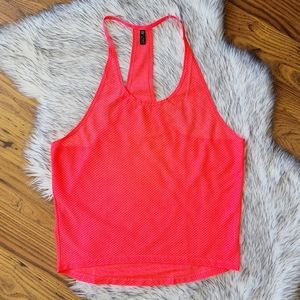Onzie Hot Coral Pink Athletic Tank Top One Size